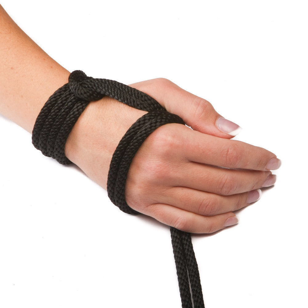 Solid Braid Polypropylene Utility Rope (Black)