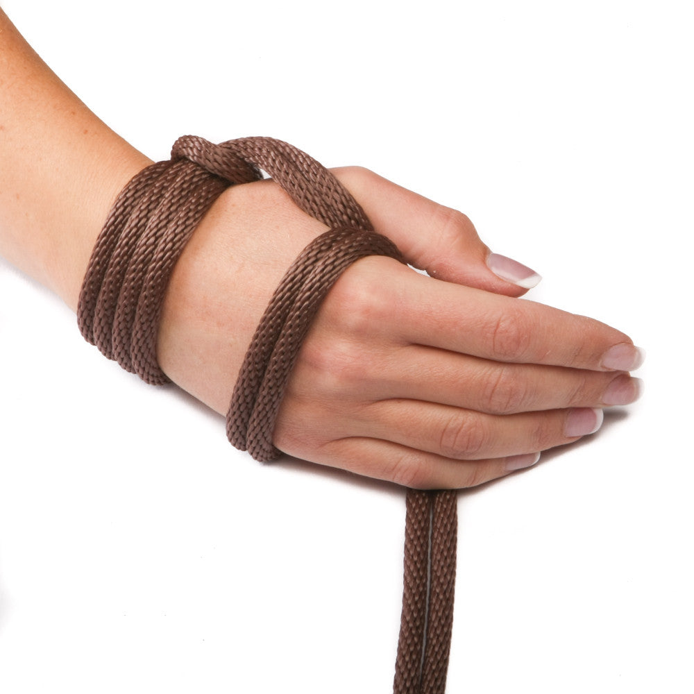 Solid Braid Polypropylene Utility Rope (Brown)