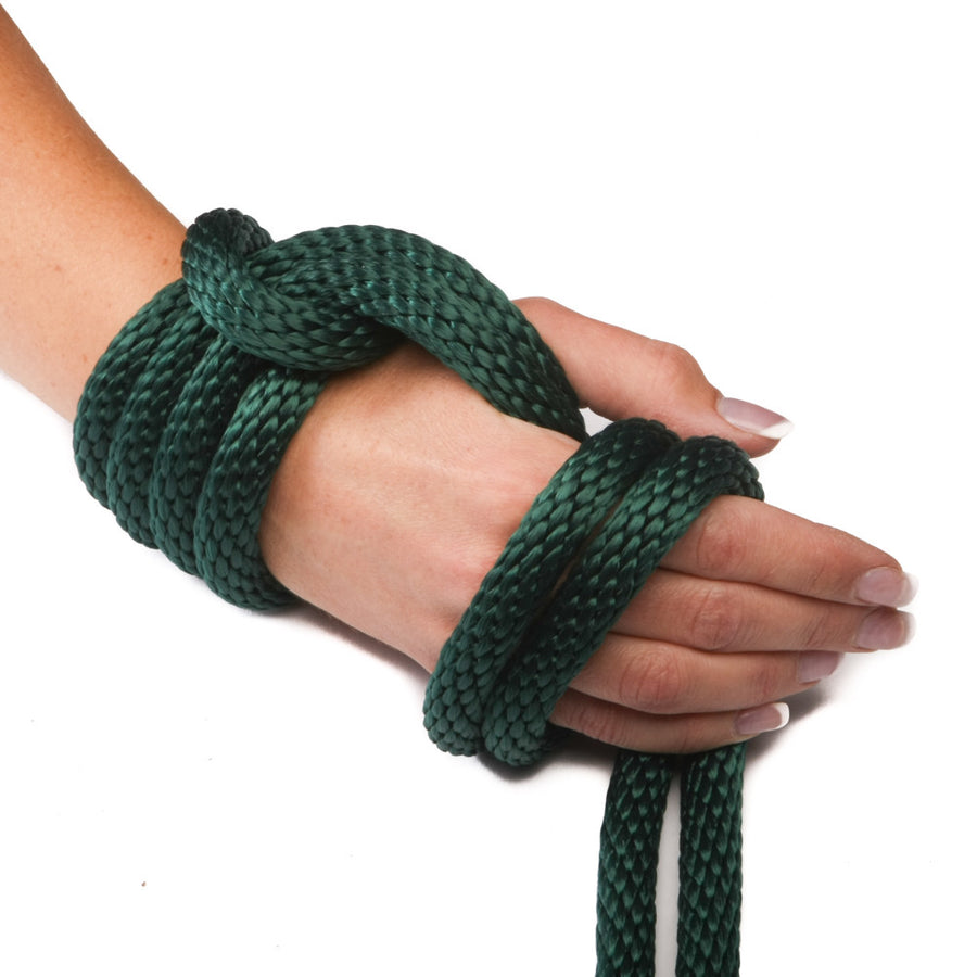 Solid Braid Polypropylene Utility Rope (Hunter Green)