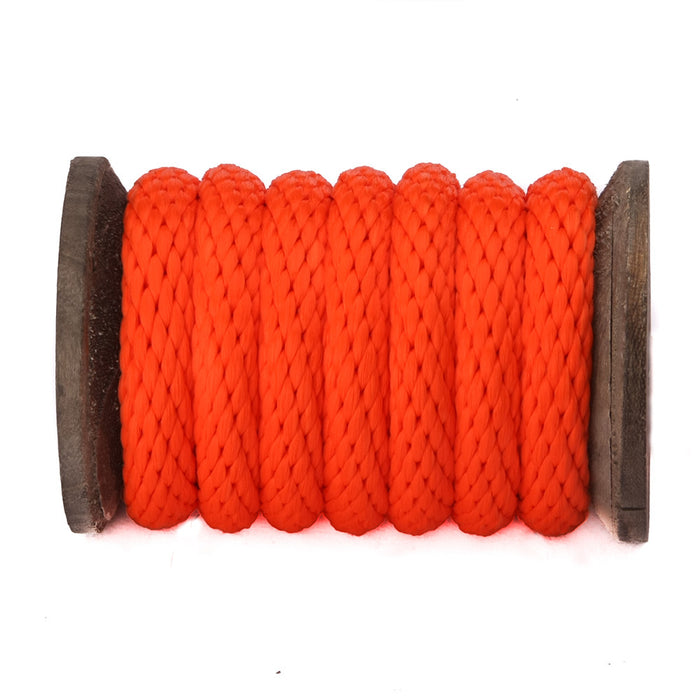 Solid Braid Polypropylene Utility Rope (Orange)