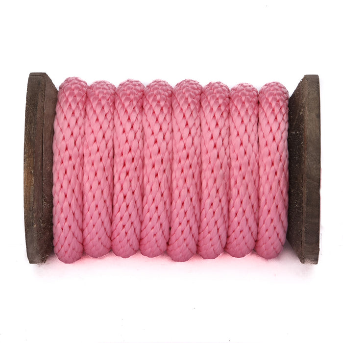 Solid Braid Polypropylene Utility Rope (Rose Pink)