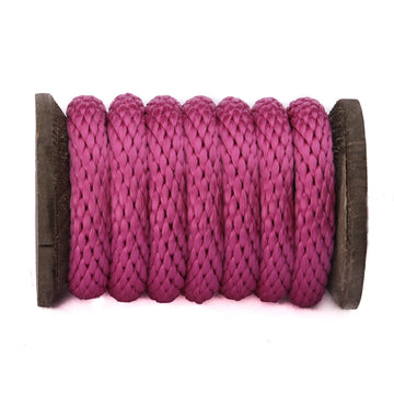 Solid Braid Polypropylene Utility Rope (Raspberry)