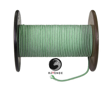Heavy Duty Spectra Utility Cord (Green & White)