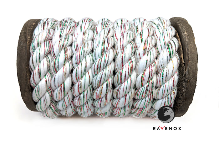 Twisted Cotton Rope (Snow White Glitter)