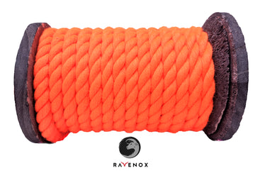 Twisted Cotton Rope (Neon Orange)