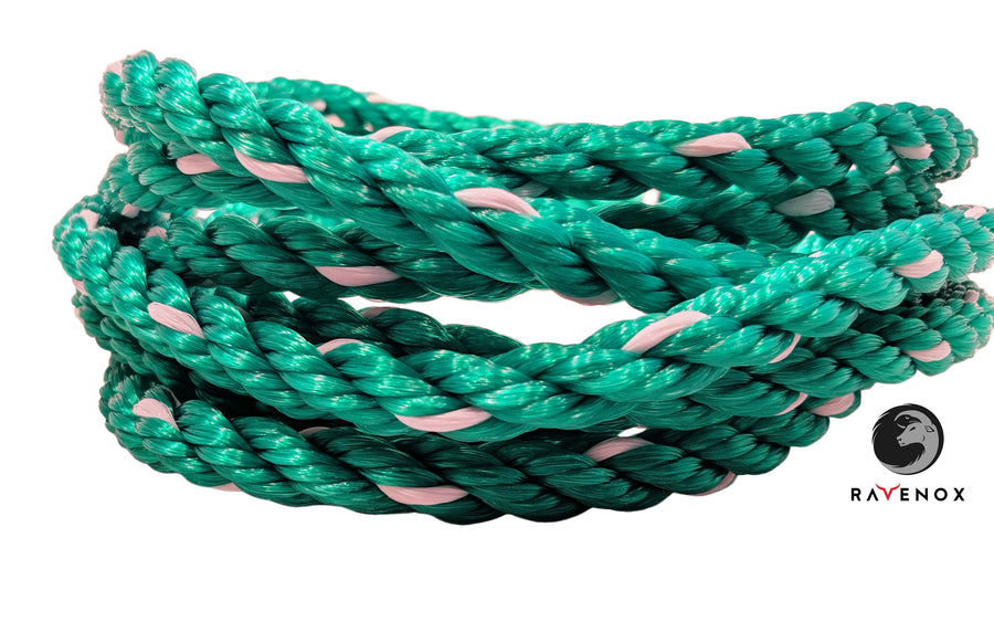 Twisted Polypropylene Rope (Green with White Tracer)