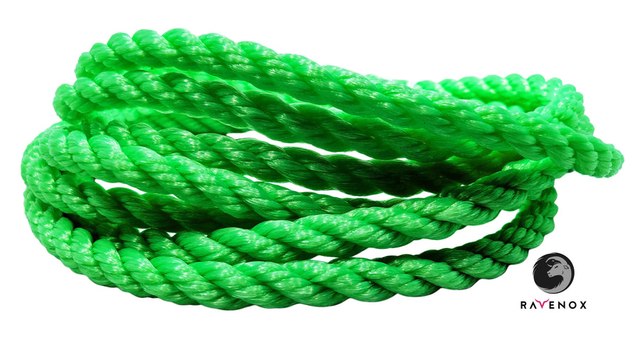 Twisted Polypropylene Rope (Lime Green)