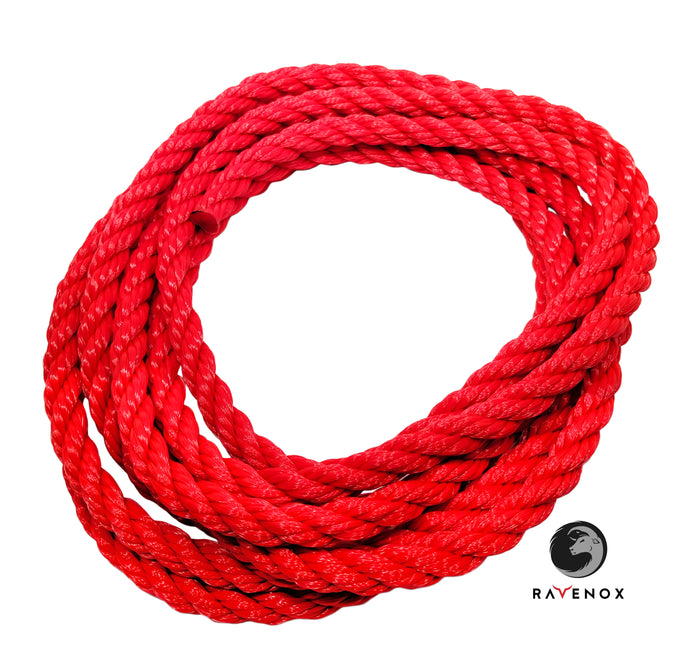 Twisted Polypropylene Rope (Red)