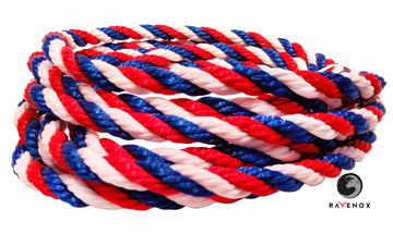 Twisted Polypropylene Rope (Red, White & Blue)