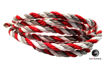 Twisted Polypropylene Rope (Red, White & Grey)
