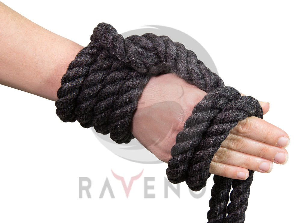 Twisted Cotton Rope (donkel Holzkuel Grey)