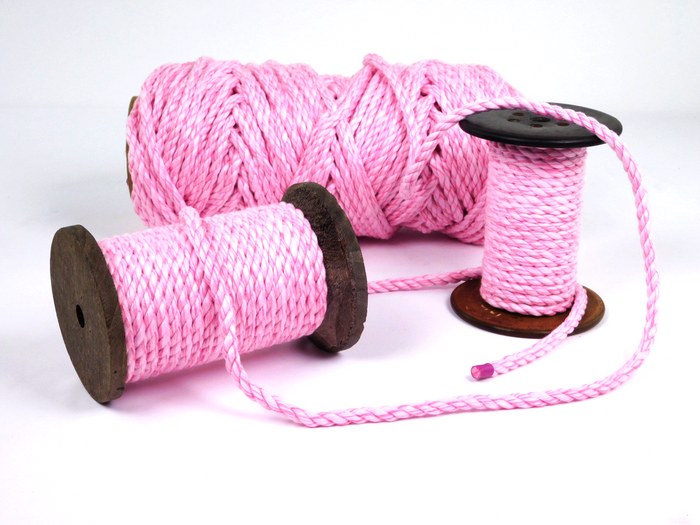 Twisted Cotton Rope (Candy Stripe Pink)