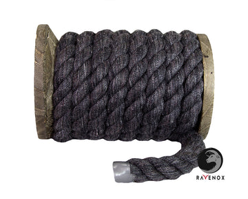 Twisted Cotton Rope (Dark Charcoal Grey)