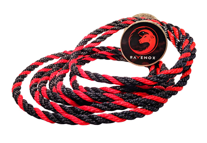Twisted Polypropylene Rope (Black, Black & Red)