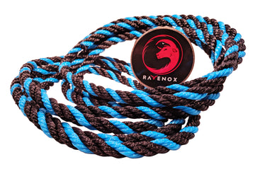 Twisted Polypropylene Rope (Black, Black & Sky Blue)