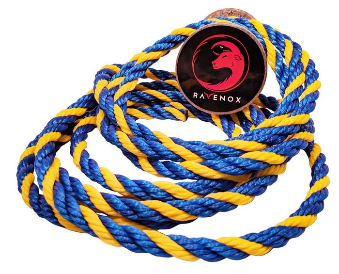 Twisted Polypropylene Rope (Blue, Blue & Yellow)