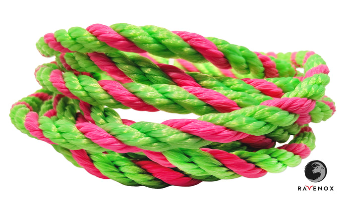 Twisted polypropylen reb (lime, lime & hot pink)