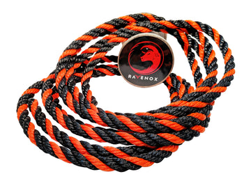 Twisted Polypropylene Rope (Black, Black & Orange)