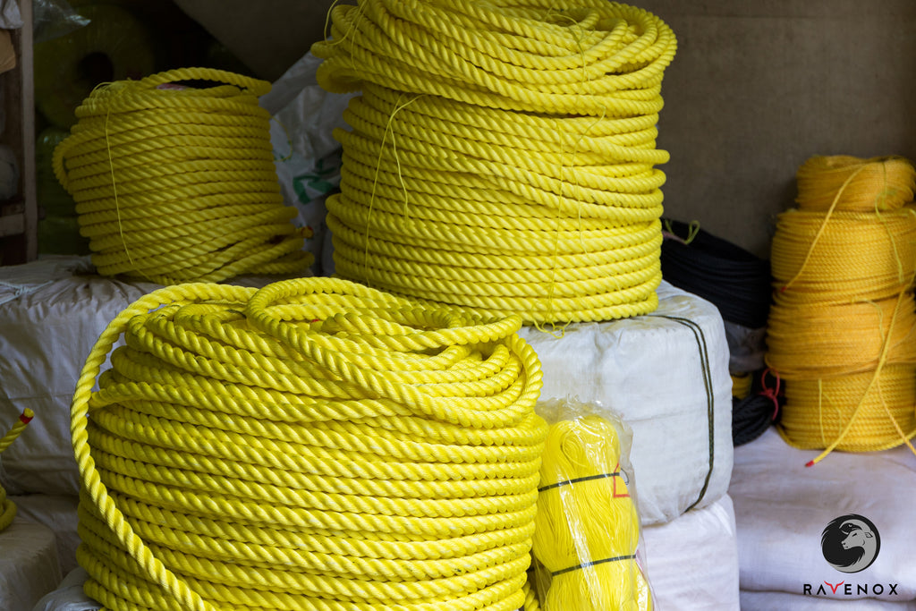 Twisted Polypropylene Rope (Burgundy with White Tracer)