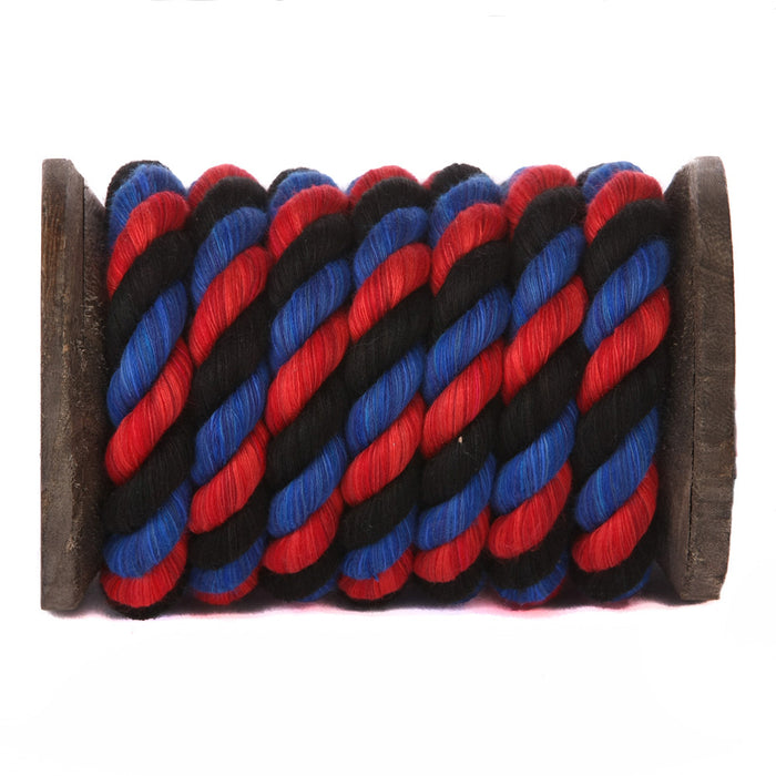 Twisted Cotton Rope (Red, Black & Royal Blue)