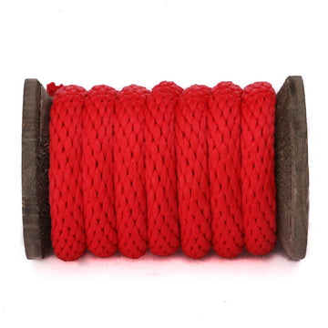 Solid Braid Polypropylene Utility Rope (Red)