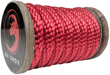 Solid Braid Polyester Rope (Red)