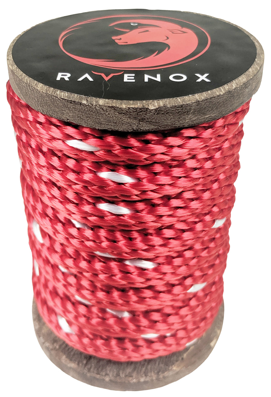 Solid Braid Polyester Rope (Red with Tracer)