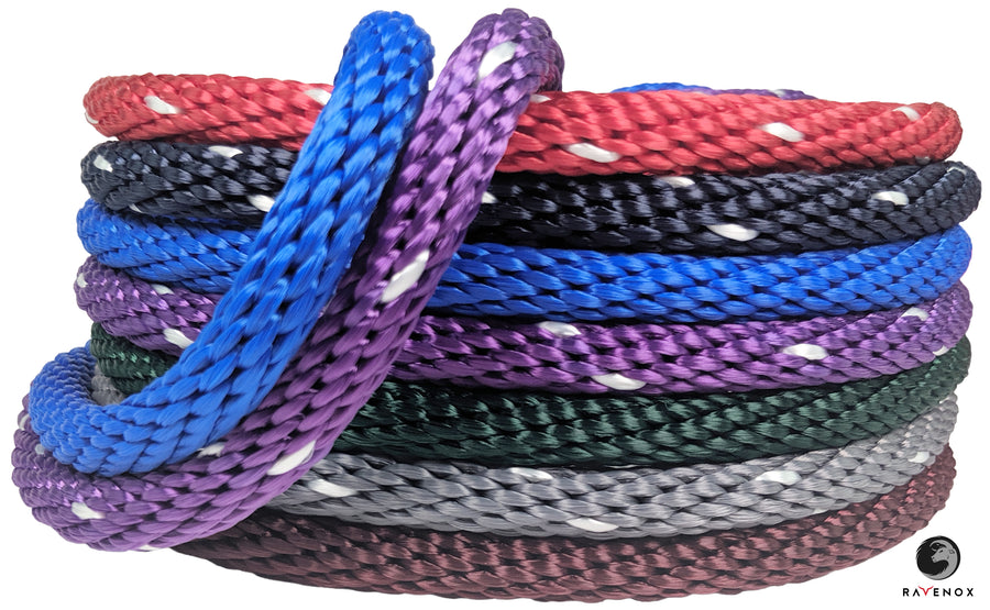 Solid Braid Polyester Rope (Purple with Tracer)