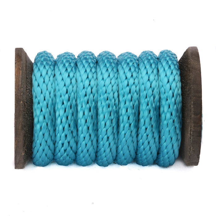 Solid Braid Polypropylene Utility Rope (Turquoise)