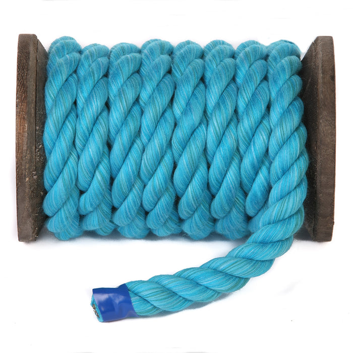 Twisted Cotton Rope (Turquoise)