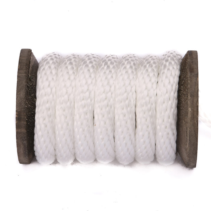 Solid Braid Polypropylene Utility Rope (White)