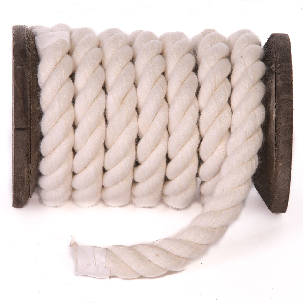 Twisted Cotton Rope (Natural Wäiss)