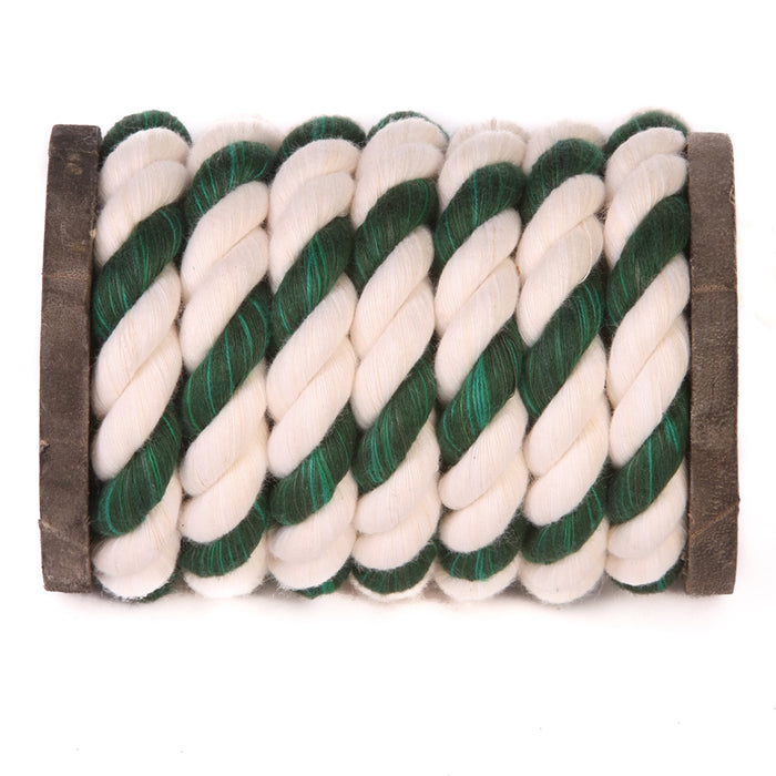 Twisted Cotton Rope (White, White & Green)