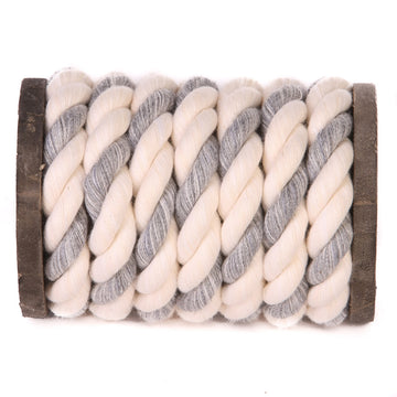 Twisted Cotton Rope (White, White & Grey)