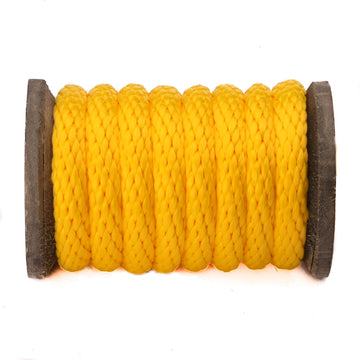 Solid Braid Polypropylene Utility Rope (Gold)