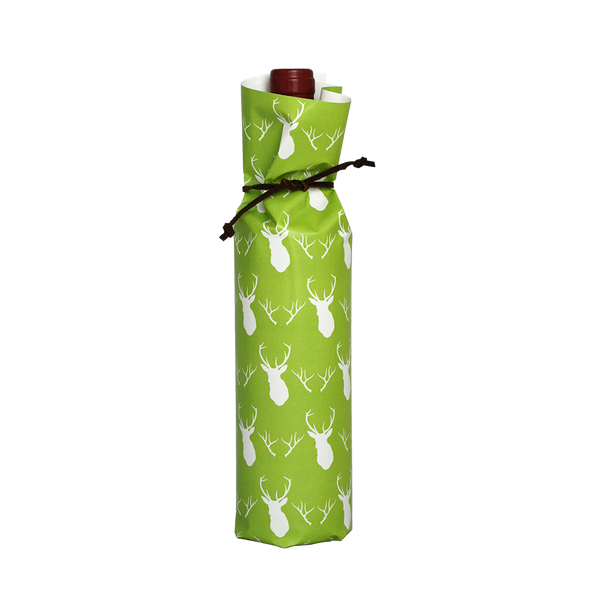 Bottle Wraps - Green Antlers (Qty 4)
