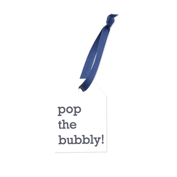 "Hang Tags - Cream ""Pop the bubbly!"" (Qty 4)"