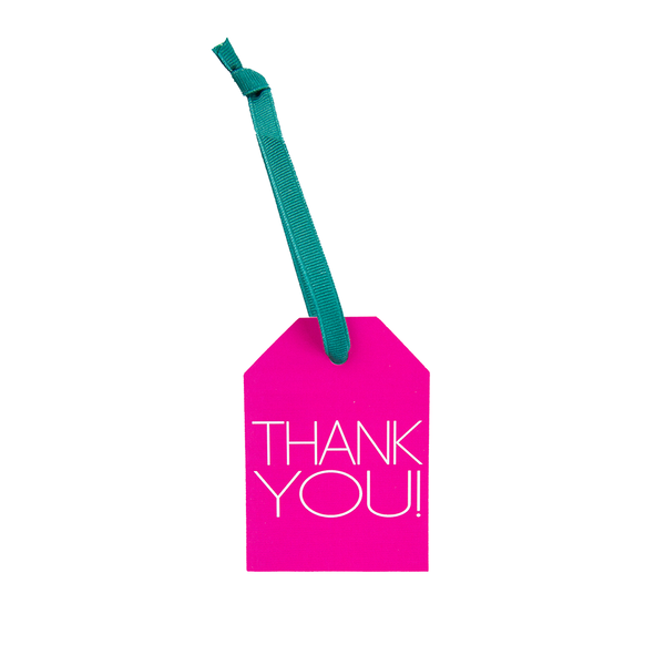 "Hang Tags - Colorful - Magenta ""Thank you!"" (Qty 4)"