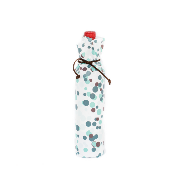 Bottle Wraps - Celebration Bubbles - Teal shades (Qty 4)