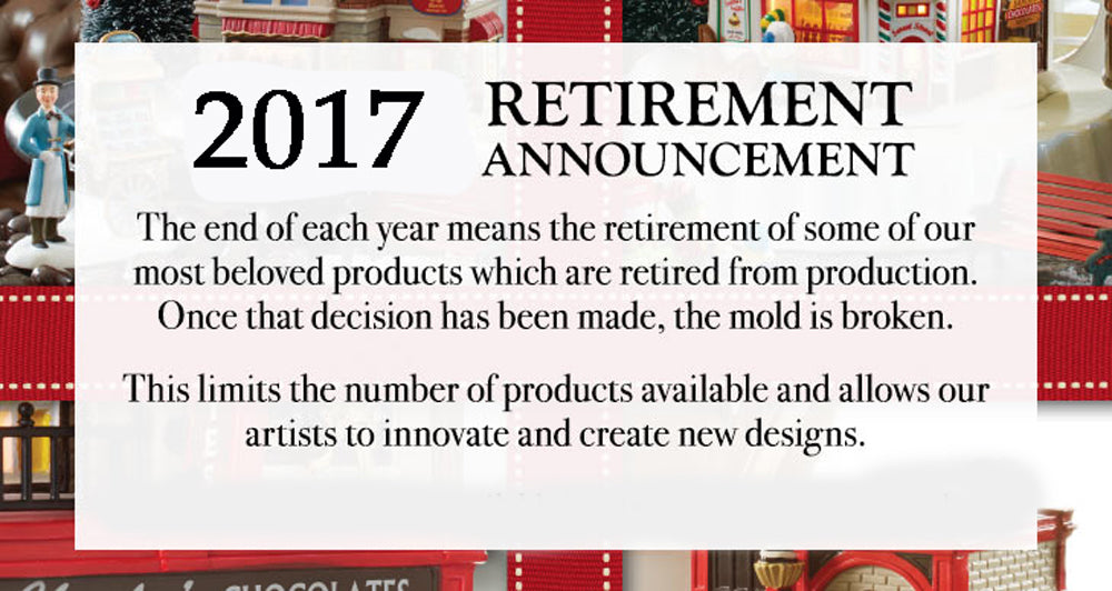 Department 56 Announces Retirement List 2017