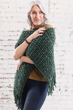 Load image into Gallery viewer, Fringe Scarf -- Green