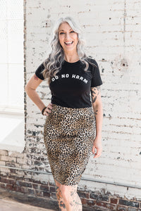 Pencil Skirt -- Leopard