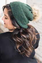 Load image into Gallery viewer, Hand-Knit Hat -- Green