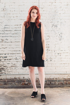Flowy ethical and sustainable dress