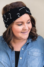Load image into Gallery viewer, Turban Headband -- Modern Memphis Print