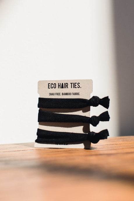 Ecofriendly hair ties made from bamboo fabric