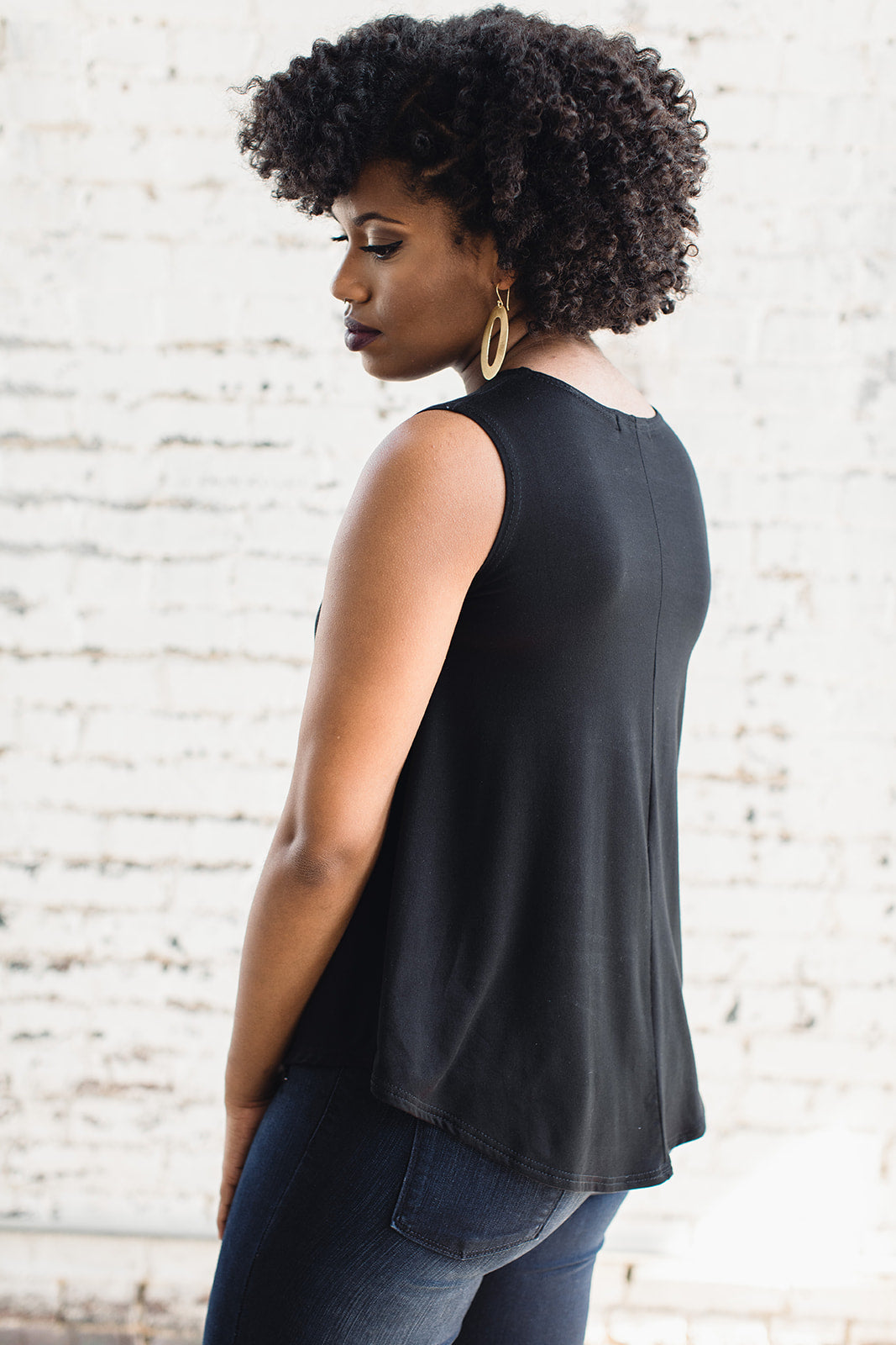 black women's top made from bamboo