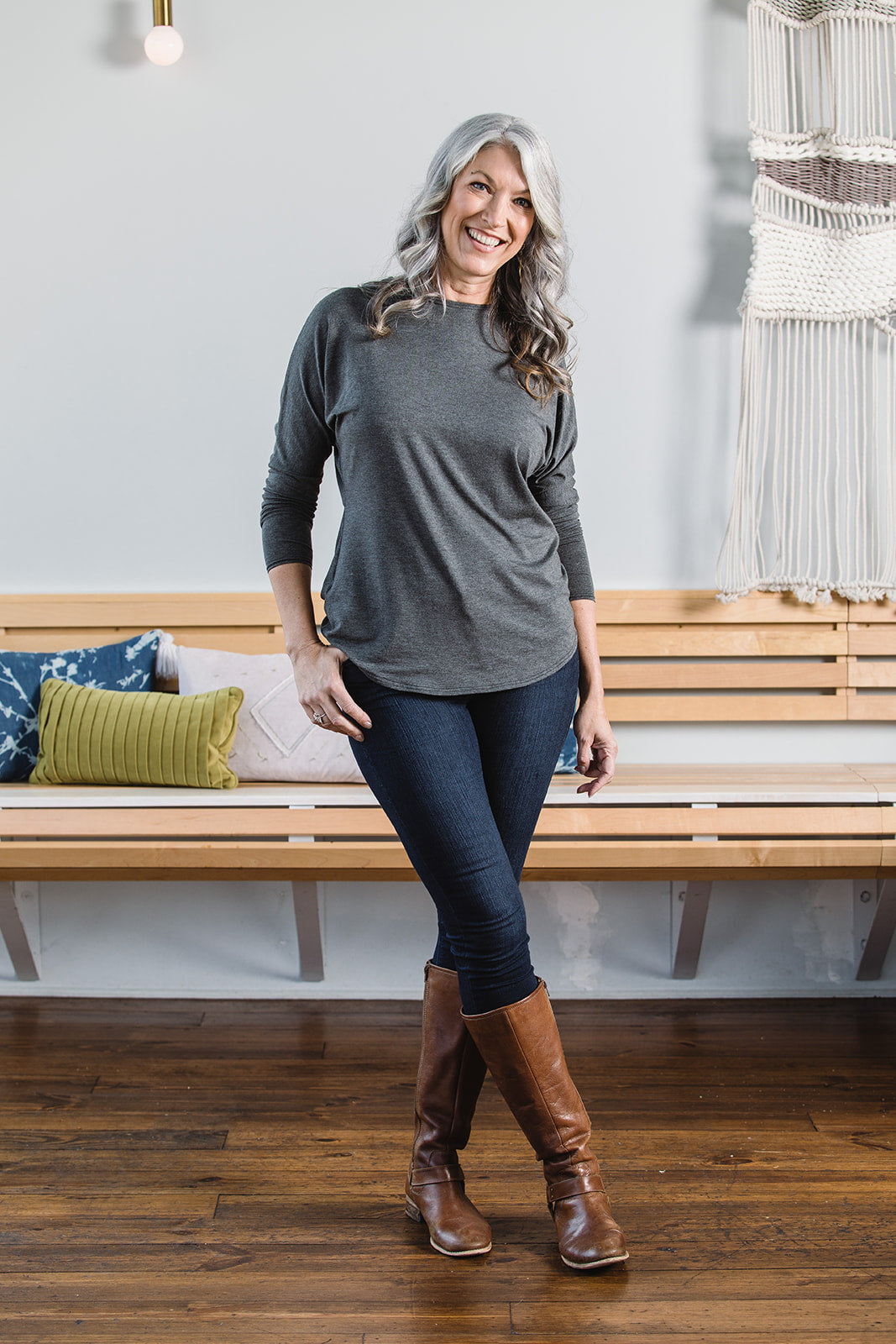 Penelope Top -- Grey