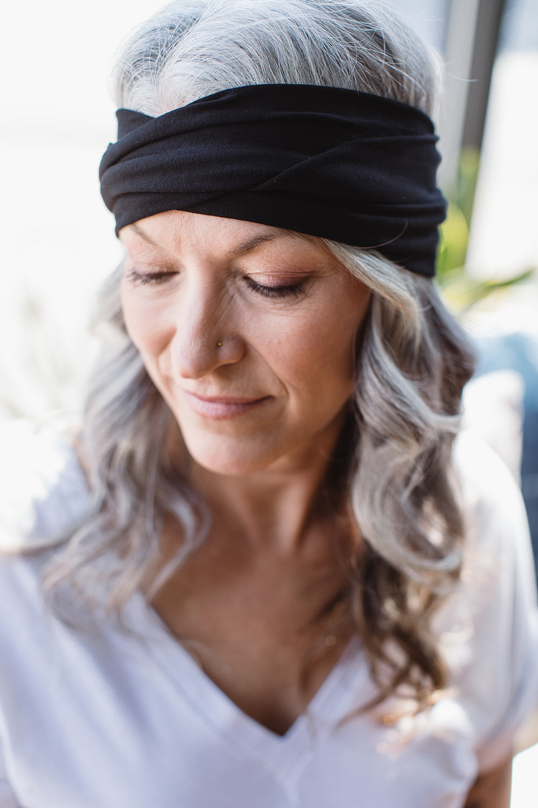 Turban Headband -- Black Bamboo