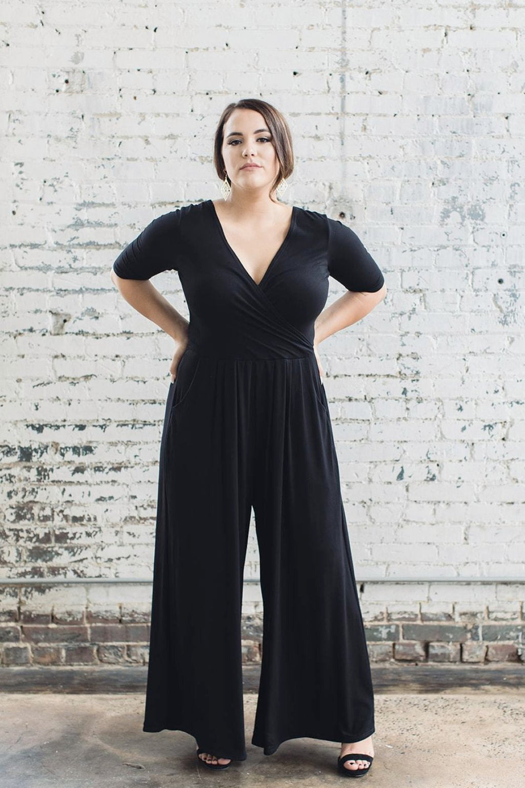 Sustainable wide leg jumpsuit